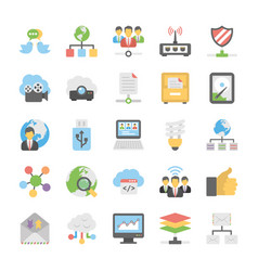 Cloud computing icons set 6 vector
