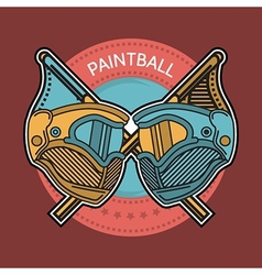 Colored of paintball emblem vector image