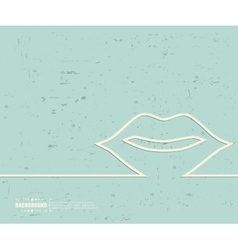 Creative mouth Art template vector image