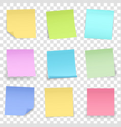 Creative of post note papers vector