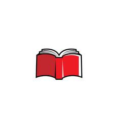 Creative red book logo vector