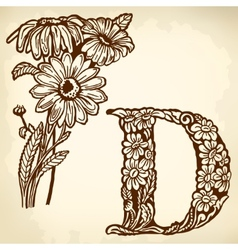 daisy Letter D vector image