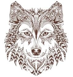 Dog head graphic design vector image