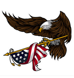 Eagle wing for usa independence day 4 th vector