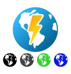 Earth shock flat gradient icon vector
