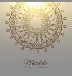 Elegant mandala design card background vector