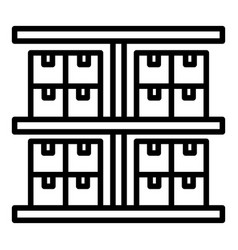Export warehouse icon outline style vector