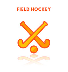 field hockey icon isolated on white vector image