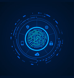 fingerprint cyber vector image