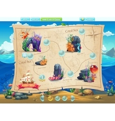 Fish world- example of selection of levels vector