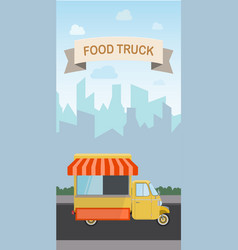 Flat design style modern food vector