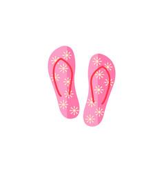 flip flops flat icon travel tourism vector image