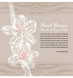 Floral drawing with flowers vector
