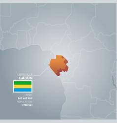 gabon information map vector image