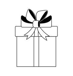 git box present symbol in black and white vector image