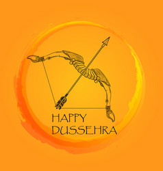happy dussehra indian festival poster vector image