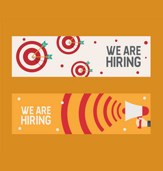 hiring recruitment design flyer we are hiring vector image