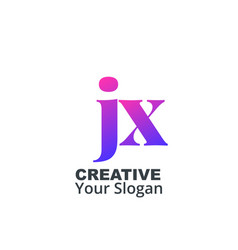 Initial letter jx lowercase design logo template vector