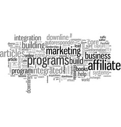Integrate your affiliate programs to explode your vector