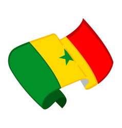 Isolated flag of senegal vector