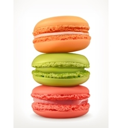 Macarons icons vector