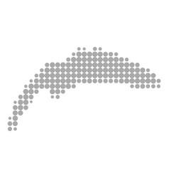 Map lake geneva vector