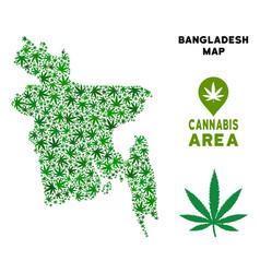 Marijuana mosaic bangladesh map vector