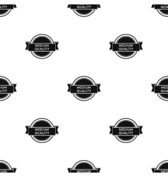 Medium quality icon in black style isolated on vector image