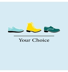 men fashion shoes to choose vector image