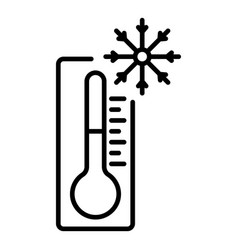 Minus thermometer icon outline style vector