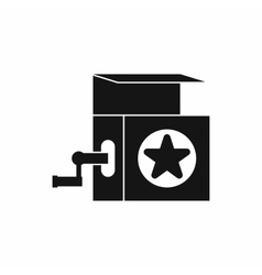 Music box icon simple style vector