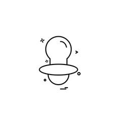nipple icon design vector image