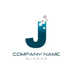 nopdern letter j vector image