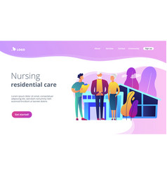 Nursing home concept landing page vector