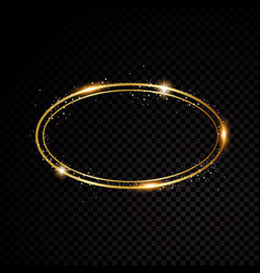 Oval frame shining circle banner isolated vector