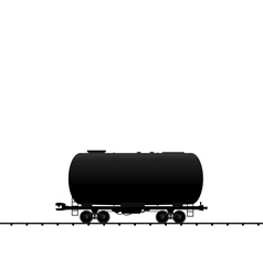 petroleum cistern wagon freight railroad train bla vector image