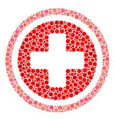 Pharmacy mosaic of dots vector