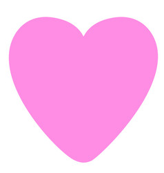 pink heart on a white background vector image