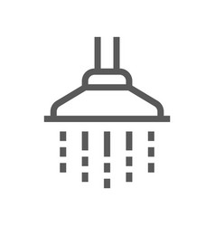 public navigation line icon shower vector image