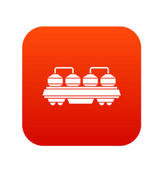 Rail wagon for cement icon digital red vector