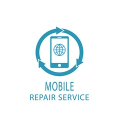 Repair phone logo fix service mobile and tablet vector