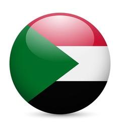 Round glossy icon of sudan vector image