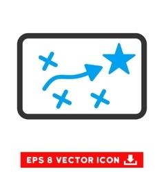Route Plan Eps Icon vector