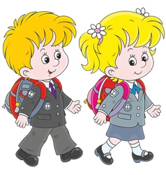 Schoolchildren vector