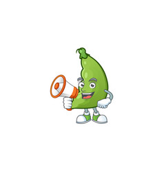Smiling cartoon character broad beans with vector