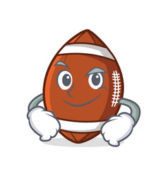 Smirking american football character cartoon vector