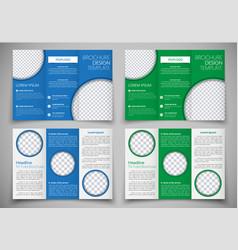 template triple folding brochure printing vector image