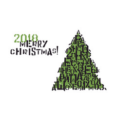 Typographic christmas greeting card design vector