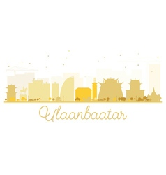 Ulaanbaatar City skyline golden silhouette vector