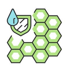 Waterproofing membrane color icon vector